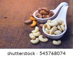 cashew nuts and roasted salt... | Shutterstock . vector #545768074