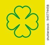 clover 4 leaves silhouette... | Shutterstock .eps vector #545774458