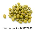 mung beans isolated on white... | Shutterstock . vector #545775850