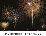 fireworks light up the sky with ... | Shutterstock . vector #545776783