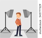 businessman in photo session | Shutterstock .eps vector #545777329