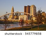 Small photo of The Columbus, Ohio skyline with the Main Street Bridge in the foreground