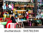 Small photo of ACAPULCO, MEXICO NOVEMBER 19, 2016 - sellers on the market of Acapulco, Mexico
