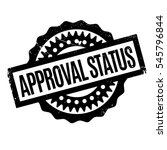 approval status rubber stamp.... | Shutterstock .eps vector #545796844