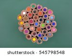 Colour Pencil Standing On Gree...