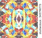 mosaic colorful pattern for... | Shutterstock . vector #545798773