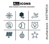 Set Of 9 Ecology Icons....