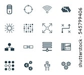 set of 16 artificial... | Shutterstock .eps vector #545799406
