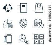 set of 9 commerce icons.... | Shutterstock .eps vector #545801584