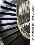 upside view of a spiral... | Shutterstock . vector #545803204