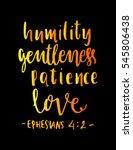 humility  gentleness patience ... | Shutterstock .eps vector #545806438