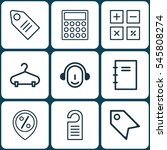 set of 9 ecommerce icons.... | Shutterstock . vector #545808274