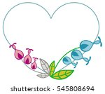 heart shaped frame with... | Shutterstock .eps vector #545808694
