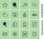 set of 16 ecology icons.... | Shutterstock . vector #545809654