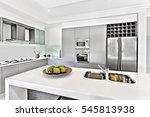 modern kitchen design including ... | Shutterstock . vector #545813938
