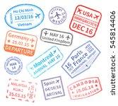 big set of  international... | Shutterstock . vector #545814406