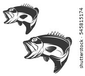 set of bass fish icons isolated ... | Shutterstock .eps vector #545815174