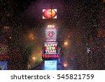 new york dec 31  general... | Shutterstock . vector #545821759