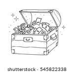 treasure chest doodle | Shutterstock .eps vector #545822338