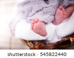 baby's feet close up. | Shutterstock . vector #545822440