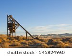 old mining head frame hoist in...   Shutterstock . vector #545824960