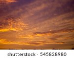 clouds at sunset  in tropical... | Shutterstock . vector #545828980