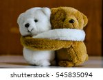 white and brown teddy bears... | Shutterstock . vector #545835094