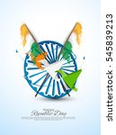 republic day of india  | Shutterstock .eps vector #545839213