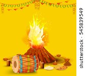 punjabi festival of lohri... | Shutterstock .eps vector #545839549