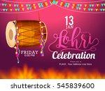 punjabi festival of lohri... | Shutterstock .eps vector #545839600