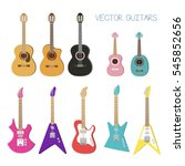 electric guitar  acoustic ... | Shutterstock .eps vector #545852656