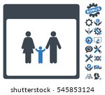family calendar page pictograph ...   Shutterstock .eps vector #545853124