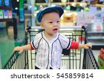 cute smiling wearing hat asian... | Shutterstock . vector #545859814
