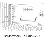 Prison Jail Interior Graphic...