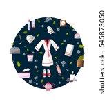 sauna and spa illustration. ... | Shutterstock .eps vector #545873050