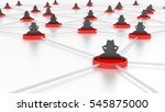 insecure network with several...   Shutterstock . vector #545875000
