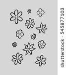 set of flower doodles. sketchy...   Shutterstock .eps vector #545877103