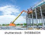 high elevated cherry picker...   Shutterstock . vector #545886034