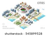 set of isolated isometric... | Shutterstock .eps vector #545899528