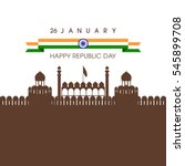illustration of indian republic ... | Shutterstock .eps vector #545899708