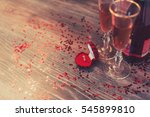 a red box with a ring  marriage ...   Shutterstock . vector #545899810