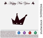 crown   vector icon | Shutterstock .eps vector #545900266
