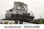 Car Dump An Old Car With An...