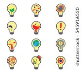 set of bulb logo and icons... | Shutterstock .eps vector #545916520