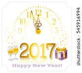 happy new year 2017 poster... | Shutterstock .eps vector #545916994