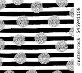 silver circles on black... | Shutterstock .eps vector #545941108