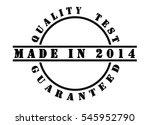 made in 2014   written in black ... | Shutterstock . vector #545952790