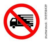 no delivery sign illustration.
