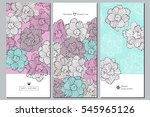 set of creative invitation... | Shutterstock .eps vector #545965126