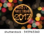happy new year 2017 text... | Shutterstock . vector #545965360